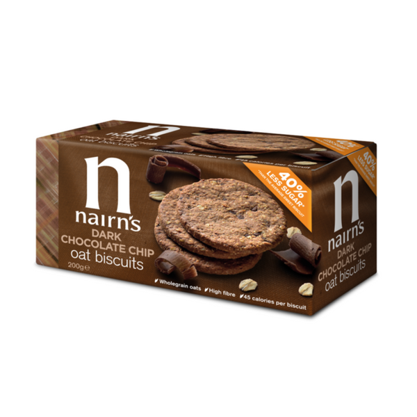 Nairns Dark Chocolate Chip Oat Biscuits - 200g