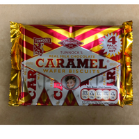 Tunnocks Caramel Wafers - 4 Pack