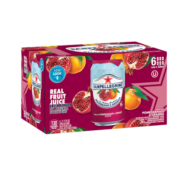 San Pellegrino - Pomegranate & Orange - 6 x 330ml