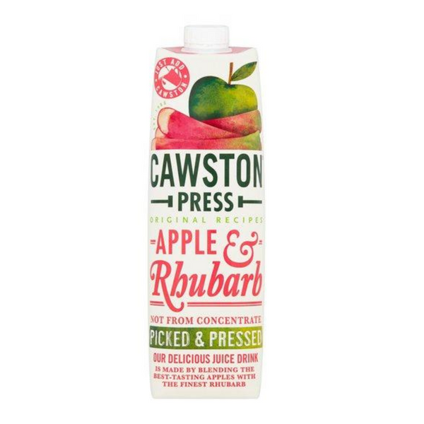 Cawston Press Apple & Rhubarb Juice - Not From Concentrate - 1L