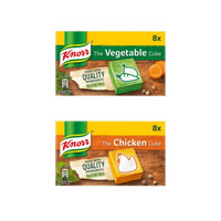 Knorr Stock Cubes - 8 Pack (Vegetable/Chicken/Beef)