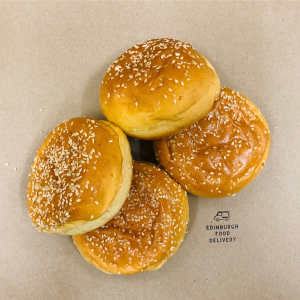 Seeded Brioche Burger Buns - 4 Pack