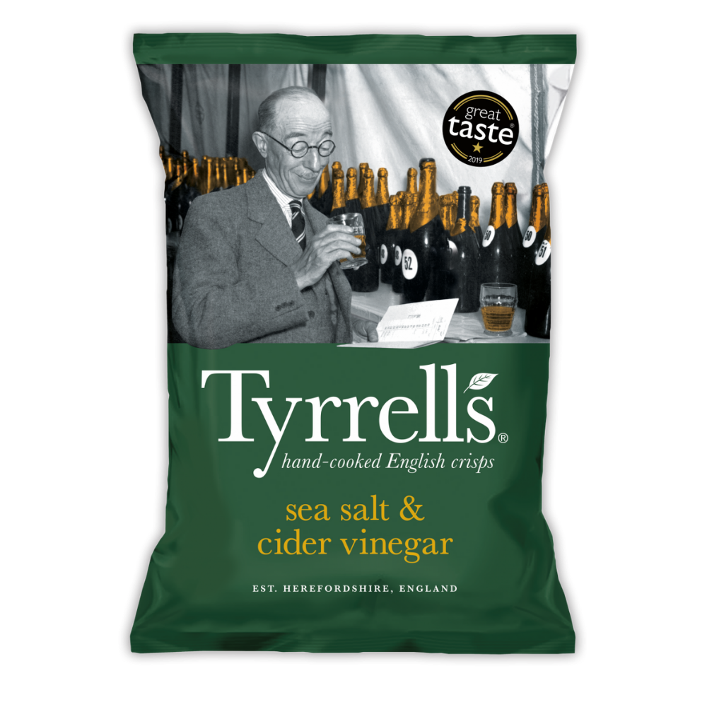 Sea Salt & Cider Vinegar Crisps - Tyrrells - 150g