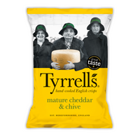 Mature Cheddar & Chive Crisps - Tyrells - 150g