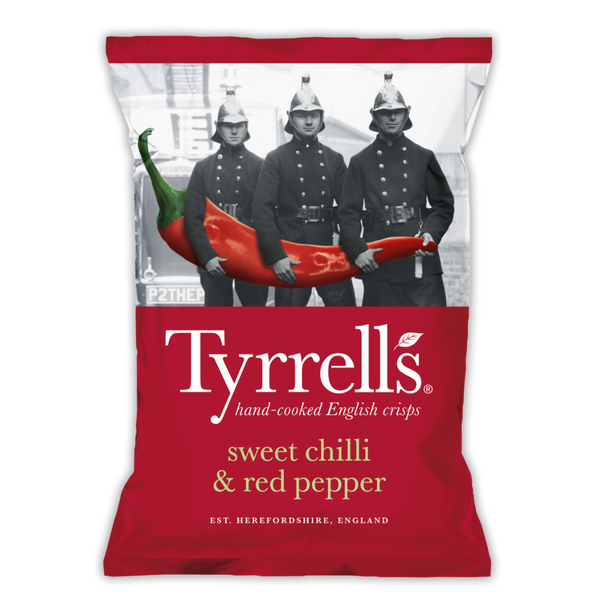 Sweet Chilli & Red Pepper Crisps - Tyrrells - 150g