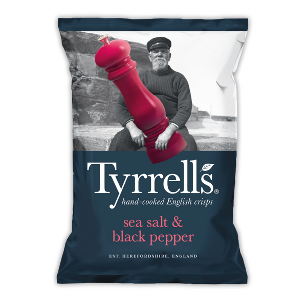 Sea Salt & Black Pepper Crisps - Tyrrells - 150g