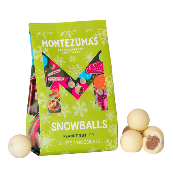 Montezuma's - White Chocolate Peanut Butter Snowballs - 150g Bag