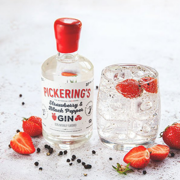 Pickering's Strawberry & Black Pepper Gin - 20cl