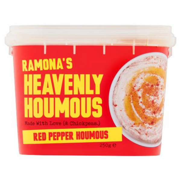 Red Pepper Houmous - Ramonas Kitchen - GF - 250g