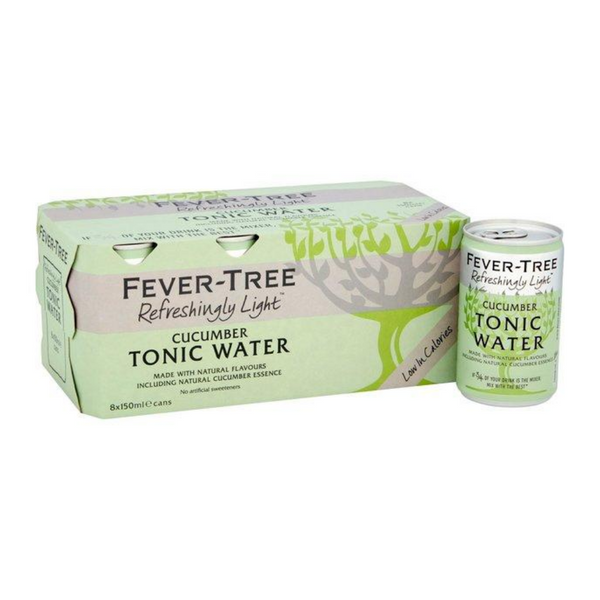 Fever Tree Light Cucumber Tonic Water - 8x 150ml Cans