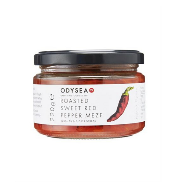 Roasted Sweet Red Pepper Meze - Odysea - 220g.