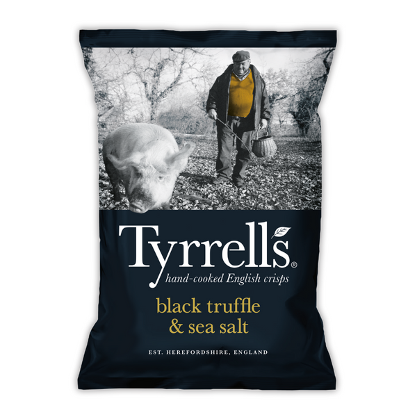 Black Truffle & Sea Salt Crisps - Tyrrells - 150g