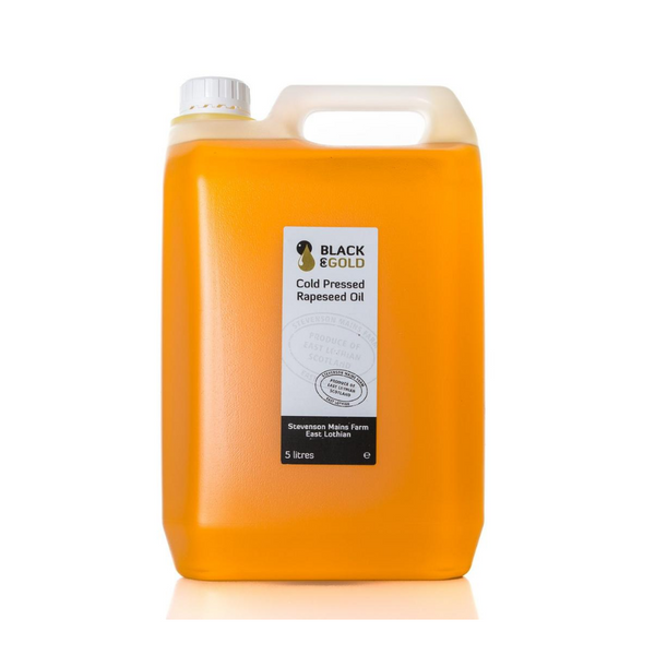 Black & Gold Cold Pressed Rapeseed Oil - 5 Litre Refill