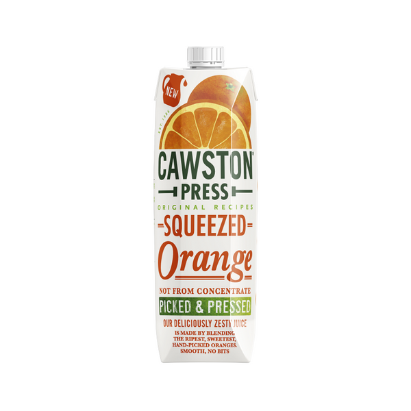 Cawston Press Squeezed Orange Juice - Not From Concentrate - 1L
