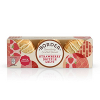Borders Biscuits - Strawberry Drizzle Melts - 150g