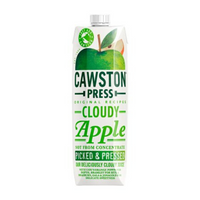 Cawston Press Cloudy Apple Juice Pressed - Not From Concentrate - 1L
