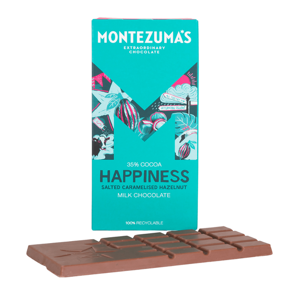 Montezuma's - Milk Chocolate with Salted Caramelised Hazelnut - 90g