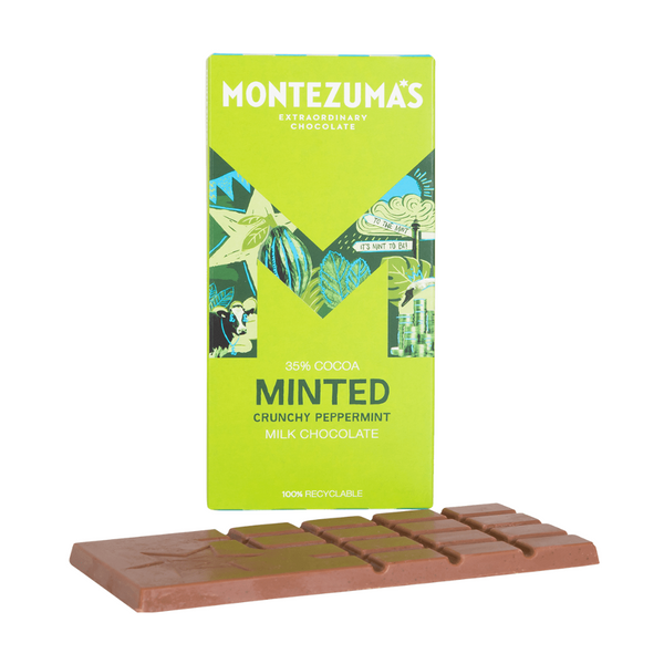 Montezuma's - Milk Chocolate with Crunchy Peppermint - 90g