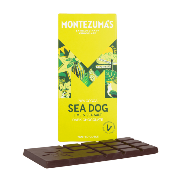 Montezuma's - Dark Chocolate with Lime & Sea Salt - 90g