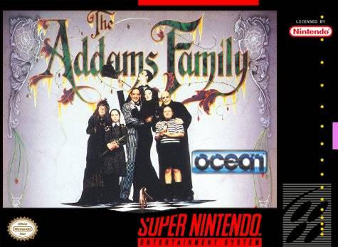 Addams Family SNES Front Cover