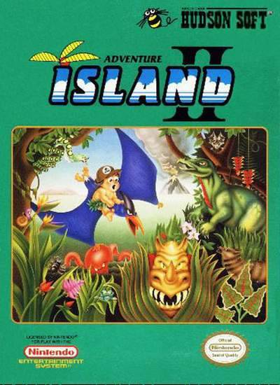 Adventure Island 2 NES Front Cover