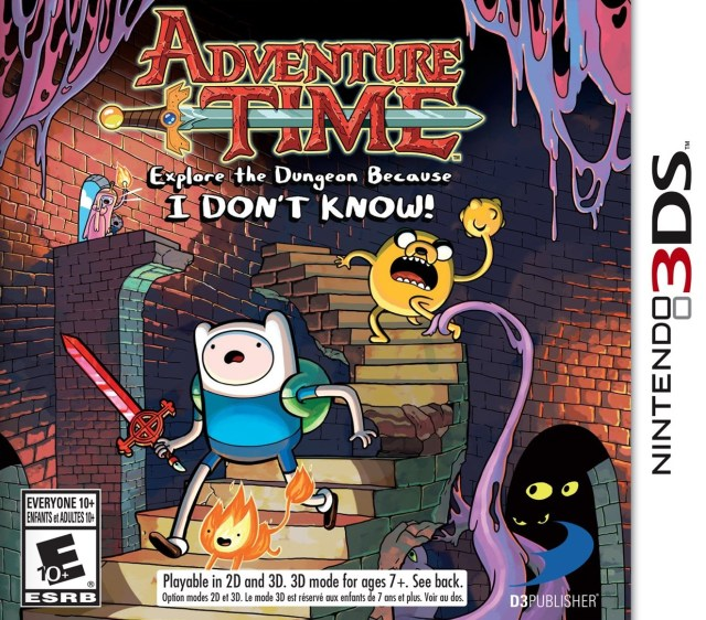 Adventure Time Explore the Dungeon Because I Don't Know 3DS Front Cover