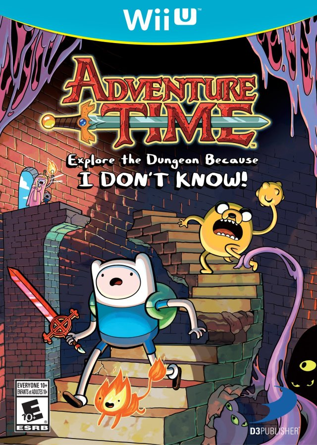 Adventure Time Explore the Dungeon Because I Don't Know WiiU Front Cover