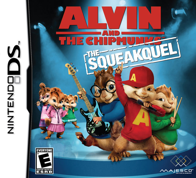Alvin and the Chipmunks Squeakquel Nintendo DS Front Cover