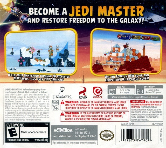 Angry Birds Star Wars Nintendo 3DS Back Cover
