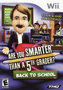 Are You Smarter Than a 5th Grader: Back to School Nintendo Wii Front Cover