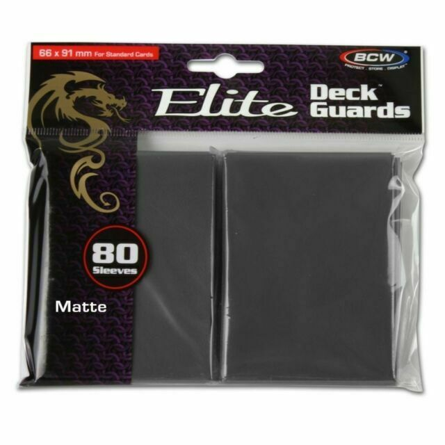 BCW Elite Deck Guards: Matte Cool Gray (80)