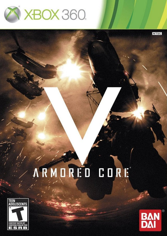 Armored Core V Xbox 360 Front Cover