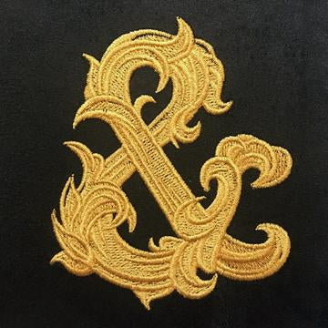 GILDED AMPERSAND - EMBROIDERED DICE BAG