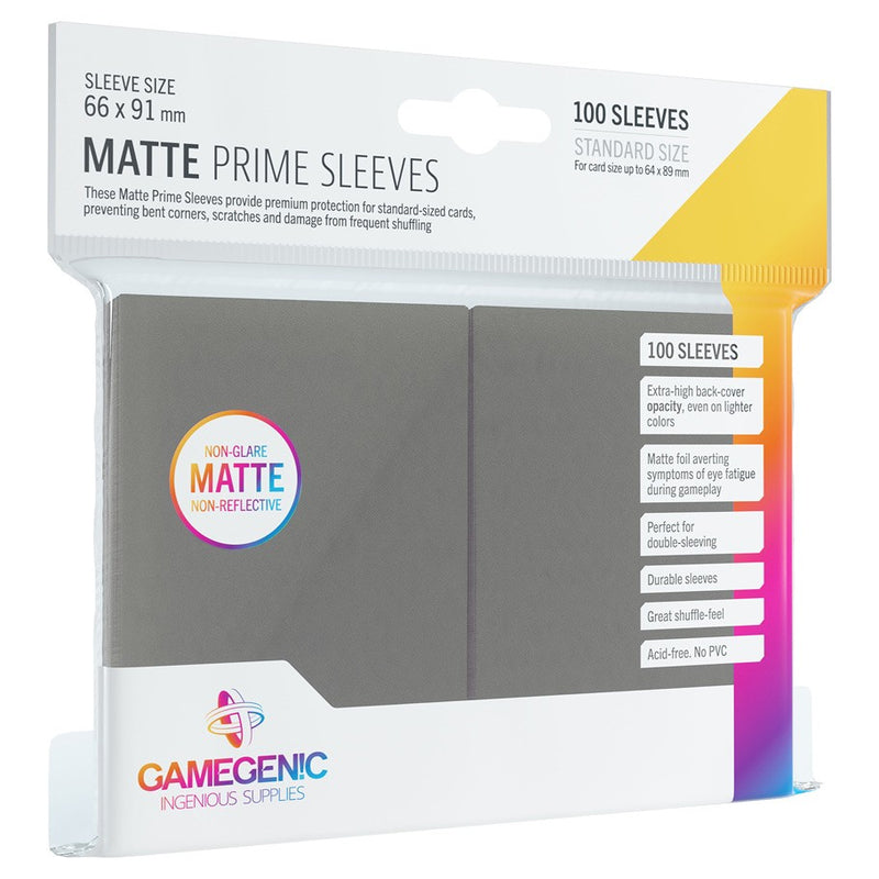 Gamegenic Standard Size Card Sleeves Matte Prime Grey