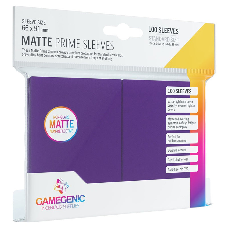 Gamegenic Standard Sleeve Card Size Matte Prime Purple