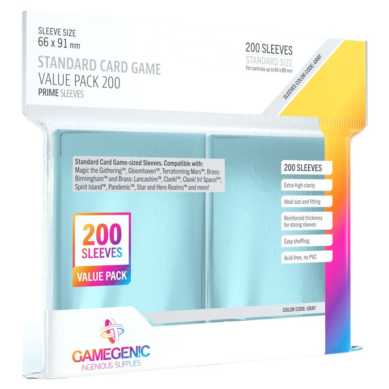 GameGenic Standard Card Game Value Pack Prime Sleeves