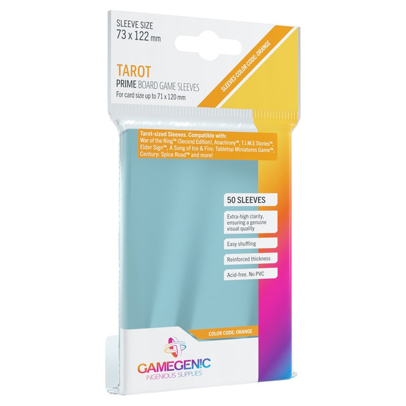 GameGenic Prime Board Game Sleeves Tarot Orange