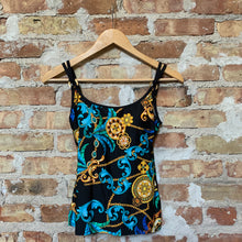 Load image into Gallery viewer, Tara Grinna Castal Gandolfo Tankini w/ Shelf Bra