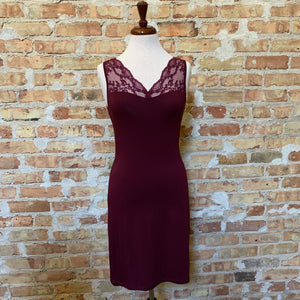 Vanilla Night and Day Claret Chemise - Size S Left!