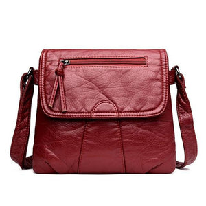 Women Messenger Soft PU Leather Shoulder Bag