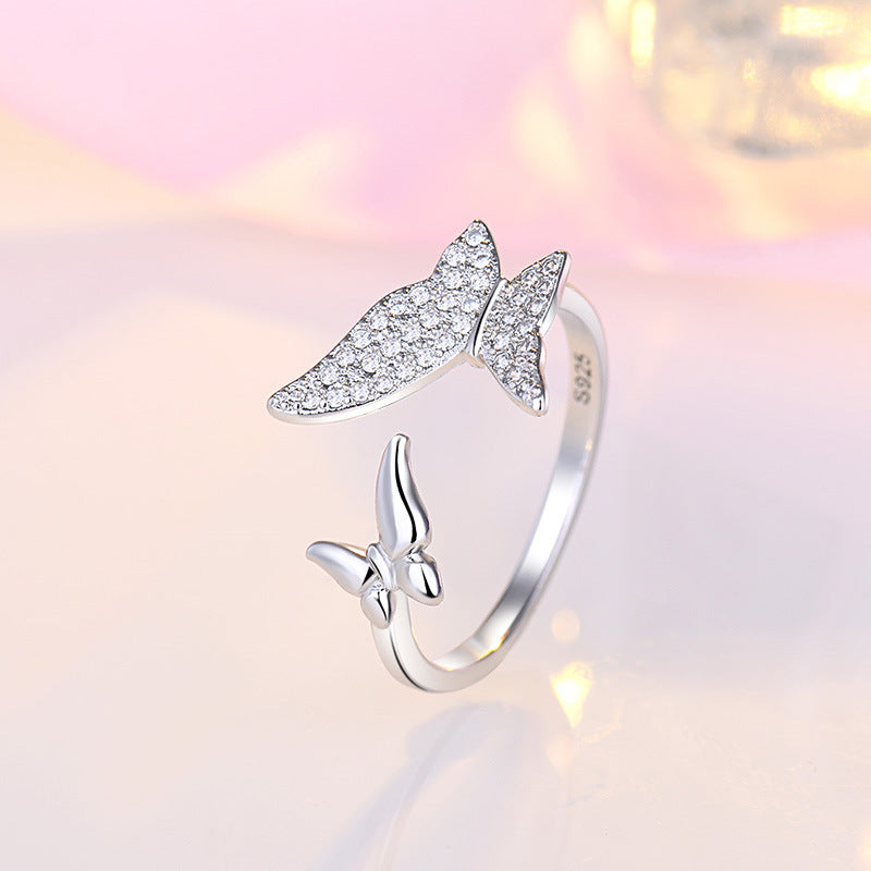 Double butterfly adjustable ring(adjustable size)