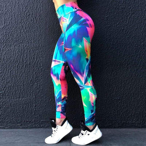 High Waist Push UP Printed Fitness Pants