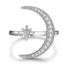 Load image into Gallery viewer, Moon & Star Ring (Size Adjustable)