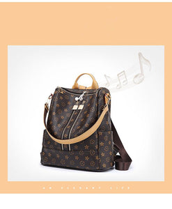 Fashion Leather Backpack Casual Purse for Women