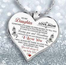 Load image into Gallery viewer, To My Daughter Love Mom Heart Necklace