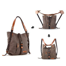 Load image into Gallery viewer, 2020 Style Women Bags 2-In-1 Backpack Canvas Backpack-Shoulder Bag