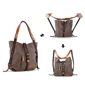 2020 Style Women Bags 2-In-1 Backpack Canvas Backpack-Shoulder Bag