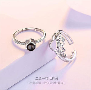 I Love You 2-in-1 Open Ring
