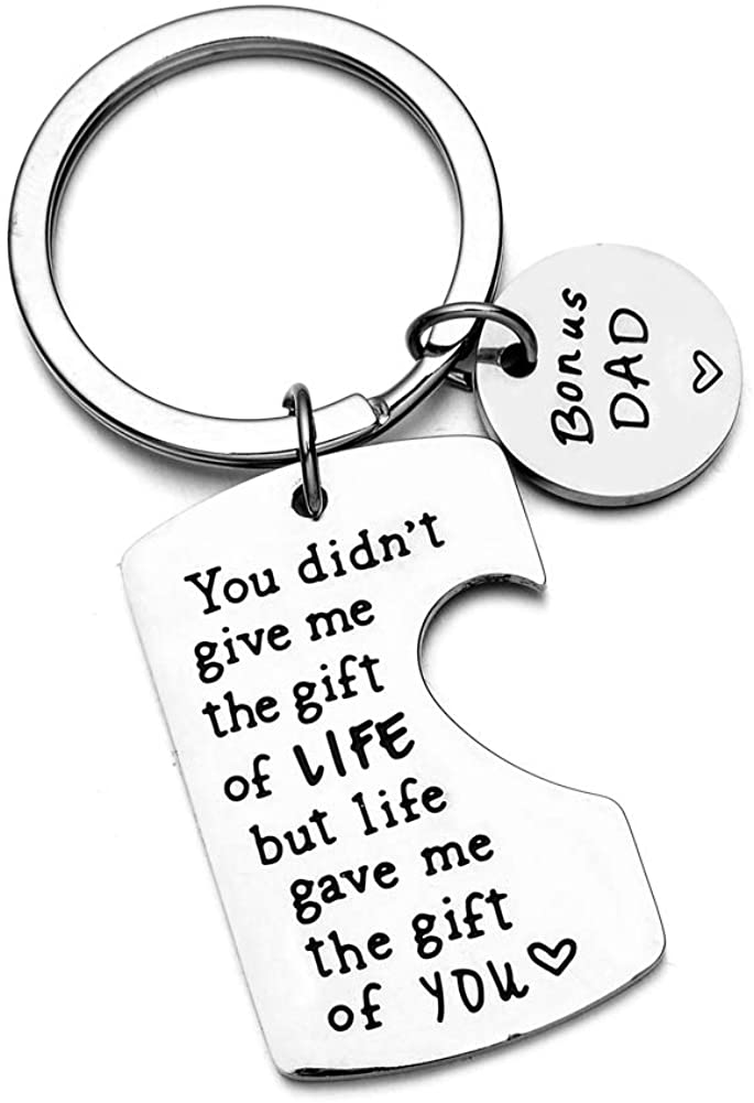 Stainless Steel Keychain for Father Mother