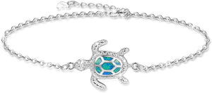 Blue Opal Sea Turtle Bracelet